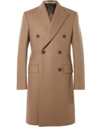 Kingsman Slim Fit Double Breasted Melton Wool Overcoat