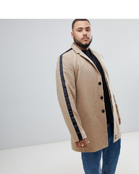 Sixth June Overcoat In Stone To Asos