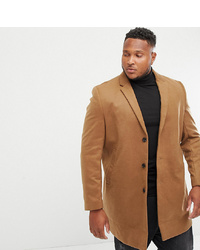 New Look Plus Overcoat In Camel