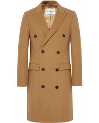 Privee Salle Prive Ives Double Breasted Wool Blend Overcoat