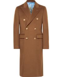 Gucci Slim Fit Double Breasted Cashmere Overcoat