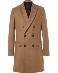 Ami Slim Fit Double Breasted Wool Blend Coat