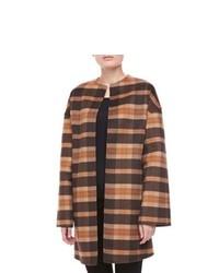Camel Plaid Coat