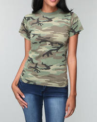 Camouflage Crew-neck T-shirt