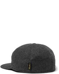 432f0c6e005 ... Borsalino Herringbone Virgin Wool Blend Baseball Cap ...