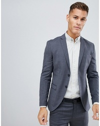 Jack & Jones Premium Suit Jacket In Super Slim Fit Grey