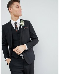ASOS DESIGN Slim Suit Jacket In Charcoal