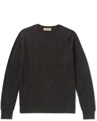 Cable knit mlange cashmere sweater medium 1245917
