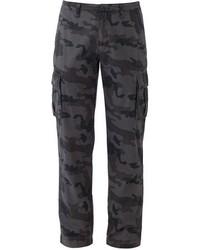 Charcoal Camouflage Cargo Pants