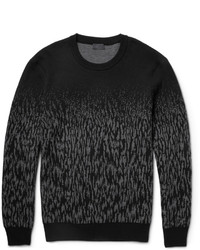 Charcoal Camouflage Crew-neck Sweater