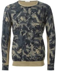 Camouflage print sweater medium 385898