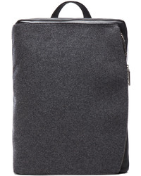 Felt and leather backpack in grey medium 114446