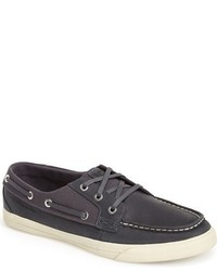 Charcoal Canvas Boat Shoes