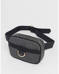 New Look Belt Bag In Black Pattern