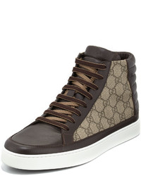 Charcoal Canvas High Top Sneakers