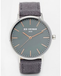 Charcoal Canvas Watch