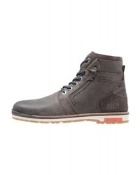 s.Oliver Lace Up Boots Grey