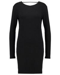 Filla jersey dress dark grey melange medium 3847746