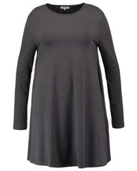 Jersey dress dark grey melange medium 3848200