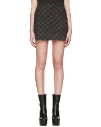 Charcoal Check Mini Skirt