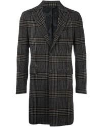 Charcoal Check Overcoat