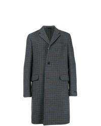 Prada Single Breasted Check Coat