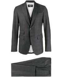 Charcoal Check Three Piece Suit