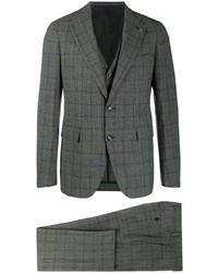 Tagliatore Plaid Three Piece Suit