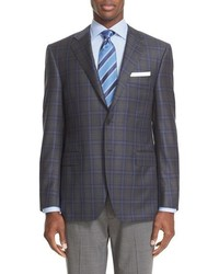 Classic fit check wool sport coat medium 784012