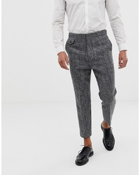 ASOS DESIGN Tapered Smart Trouser In 100% Wool Harris Tweed Check