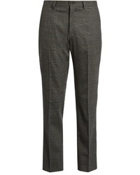 Dolce & Gabbana Prince Of Wales Checked Wool Trousers