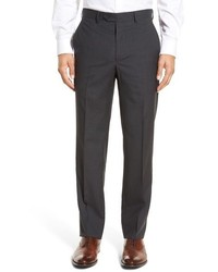 Santorelli Flat Front Check Virgin Wool Trousers