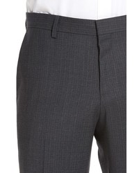 BOSS Genesis Flat Front Check Stretch Wool Trousers