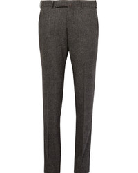 Ermenegildo Zegna Grey Slim Fit Checked Stretch Wool Trousers