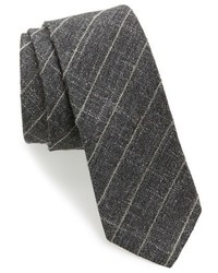 Check wool blend skinny tie medium 915651