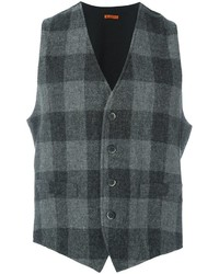 Charcoal Check Wool Waistcoat
