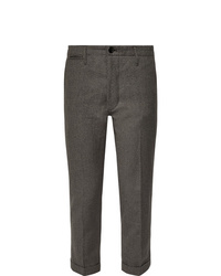 VISVIM High Water Slim Fit Tapered Linen Blend Trousers