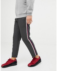Pull&Bear Trousers In Grey With Multi Coloured
