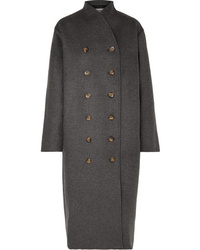 Totême Bergerac Oversized Double Breasted Wool Blend Felt Coat