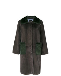 Liska Oversized Two Tone Coat