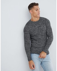 Selected Homme Knitted Jumper In Twisted Yarn Cottonegret