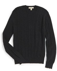 Burberry London Newham Cashmere Aran Knit Sweater