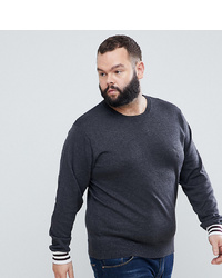 French Connection Plus Crew Neck Knitted Jumper With Contrast Cuff