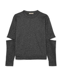 Christopher Kane Zip Detailed Lurex Sweatshirt