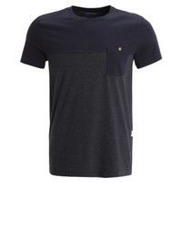 Basic t shirt blackdark grey melange medium 4176410