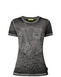 Versace Jeans Crystal Logo T Shirt