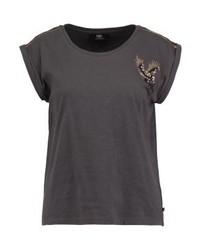 Le Temps Des Cerises Eagle Print T Shirt Carbone
