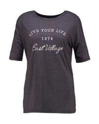 TWINTIP Print T Shirt Dark Grey Melange