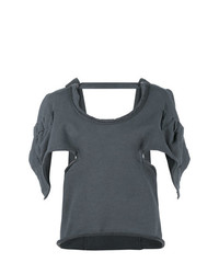 JW Anderson Oversized Open Back Asymmetric Sleeve Top