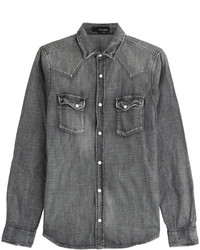 Charcoal Denim Shirt